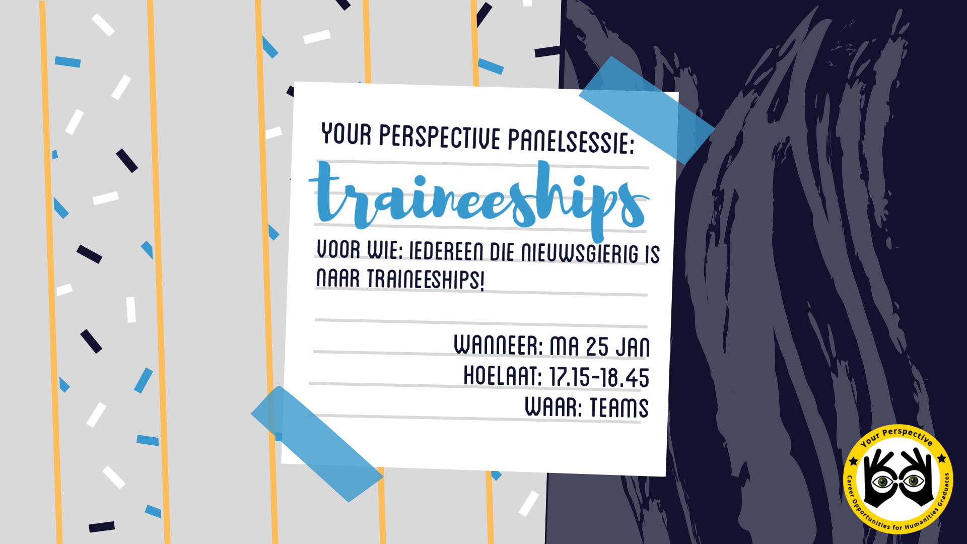 Your Perspective panelsessie: Traineeships